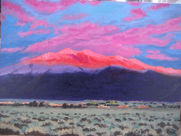 Taos Mountain Sunset